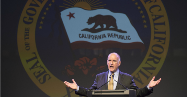 Gov. Jerry Brown, D-Calif., recently signed a measure to expand Obamacare to illegal immigrants. (Randy Pench/ZUMA Press/Newscom)