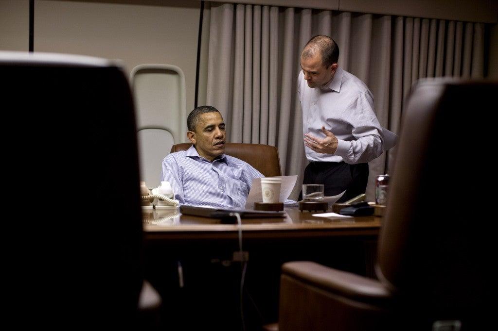 President Barack Obama with with Ben Rhodes, Deputy National Security Advisor for Strategic Communication. (Photo: Pete Souza/The White House/ZUMAPRESS.com)
