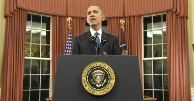 President Obama said the terrorism threat has evolved since Sept. 11, 2001 into less complex, but harder to detect, lone-wolf style attacks. (Photo: Saul Loeb/ZumaPress/Newscom)