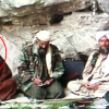 A photo from Oct. 7, 200, from left to right: Suleiman Abu Ghaith, Osama Bin Laden, Ayman Zawahri, and Muhammad Atef somewhere in Afghanistan on TV. (Photo: Al-Jazeer