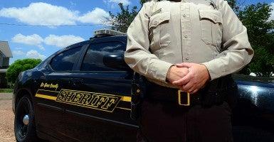 New Mexico sheriff. (Photo: Adolphe Pierre-Louis/Albuquerque Journal/Newscom)