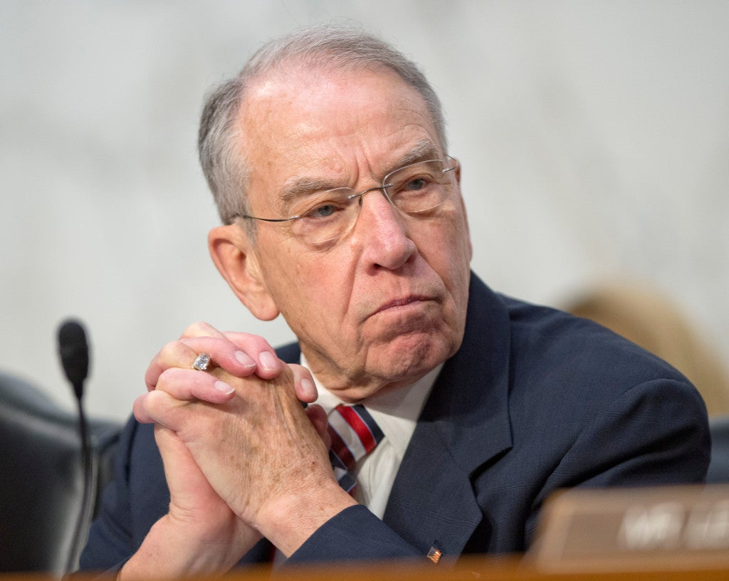 Sen. Chuck Grassley (pictured), R-Iowa, along with Rep. Bob Goodlatte, R-Va., sent a letter to Homeland Security Secretary Jeh Johnson seeking answers on how a criminally-convicted illegal immigrant avoided deportation. (Photo: Ron Sachs/ZUMA Press/Newscom)