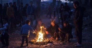 Nov. 5, 2015 - Lesvos, Greece - Syrian Refugees who are coming from Turkey's Aegean costs (Photo: Depo Photos/ZUMA Press/Newscom)