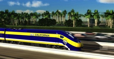 An artist's impression of the California high-speed rail system. (Photo: High Speed Rail Authority/Newscom)