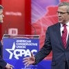 Jeb Bush is interviewed by Sean Hannity of Fox News at CPAC. (Photo: Ron Sachs/Newscom)