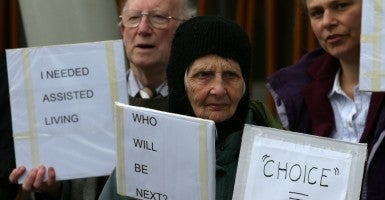 People gather to rally against physician-assisted suicide, which would allow those with terminal or life-shortening illnesses to obtain help to end their life. (Photo: Newscom/Milligan)