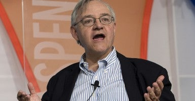 E.J. DIONNE, Washington Post columnist, takes part in the Aspen Ideas Festival.(Newscom)