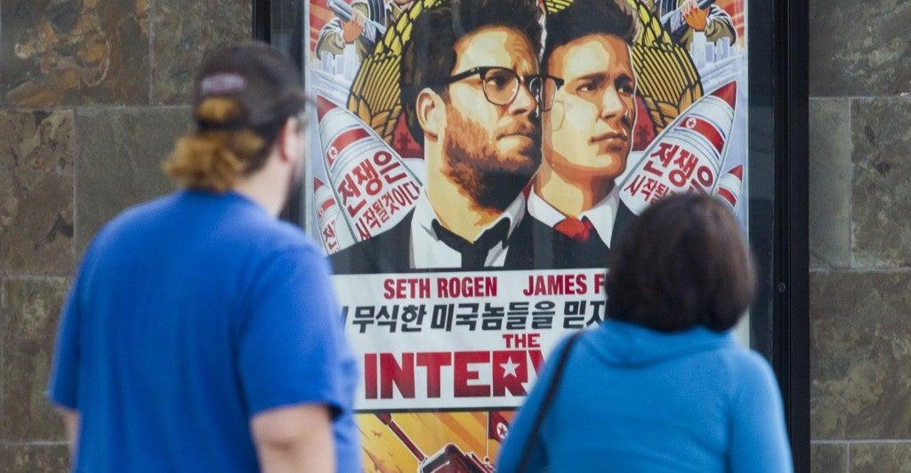 A poster for the movie 'The Interview.' (Photo: Ringo Chiu/Newscom)