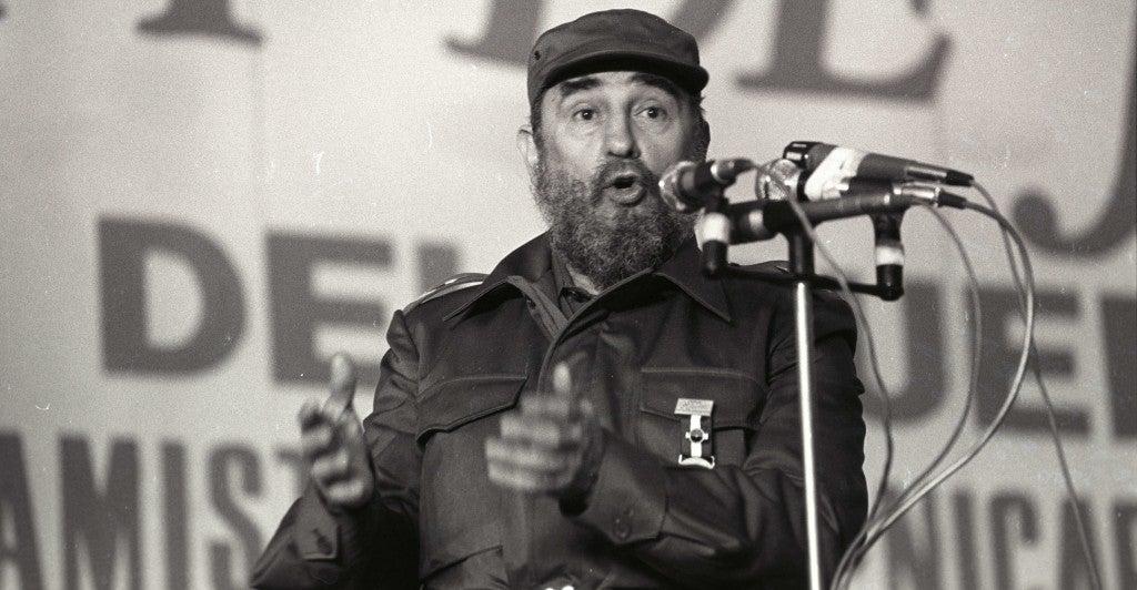 Fidel Castro in 1985. (Photo: Scott Mc Kiernan/Newscom)