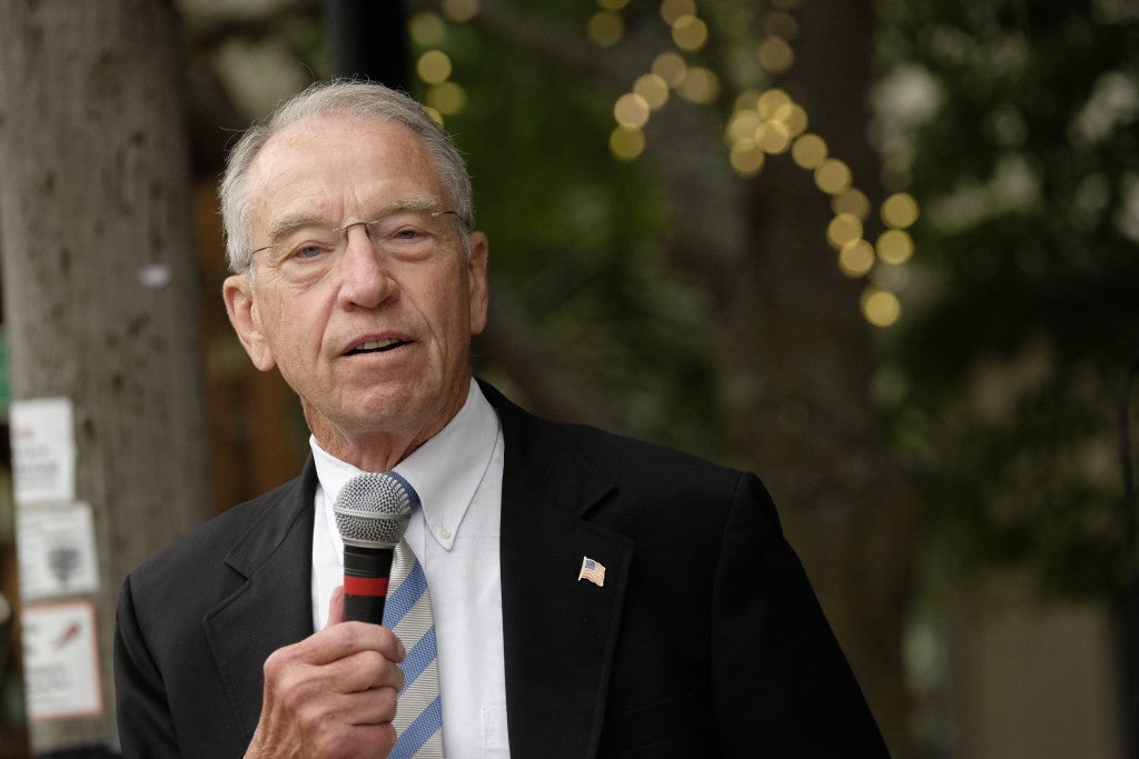Chuck Grassley, the Republican chairman of the Senate Judiciary Committee, is cautious about reducing prison sentences for drug offenders. (Photo: Jerry Mennenga/ZUMA Press/Newscom)