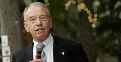 """The continued attacks against Sen. Grassley's record on nominations as chairman of the Senate Judiciary Committee are unfounded and based on political rhetoric,"" said a Senate Judiciary Committee spokesman.  (Photo: Jerry Mennenga/ZUMA Press/Newscom)"